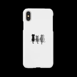 Moonの3にゃんず Smartphone cases