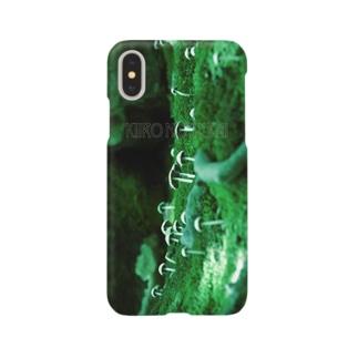 【黄色の世界】ミドリきのこ スマホケース Smartphone cases