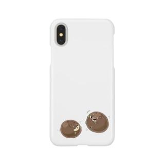タピオカ犬(赤茶) Smartphone cases