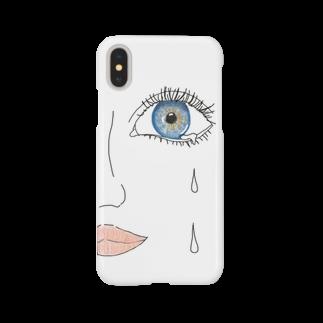 しおり/意味わからん絵の青い目 Smartphone cases