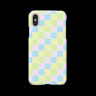 cooLunaのpastel tile - colorful - Smartphone cases