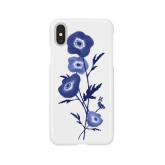 花とみつめ_藍 Smartphone cases