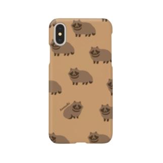 たぬきくん Smartphone cases
