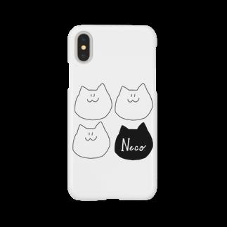 MoriPopoのneco. 顔4つver. Smartphone cases