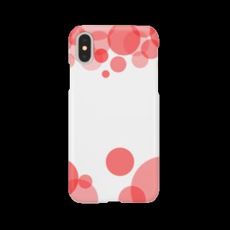 あおのRed circle Smartphone cases