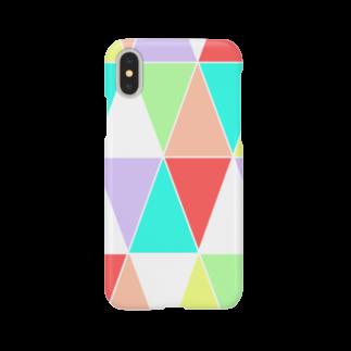 あおのcolorful triangle Smartphone cases