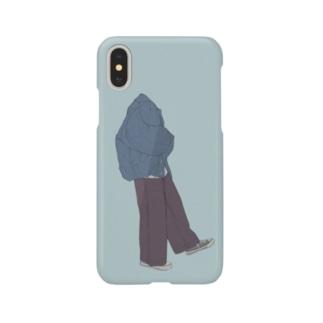 【透明人間ちゃん1号】 Smartphone cases