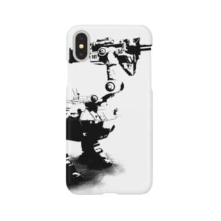 cassowary(ロゴなしモノクロロボットのみ) Smartphone cases