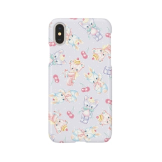 Stuffed Baby Animals(Lavender) Smartphone cases