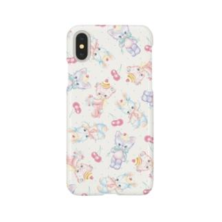 Stuffed Baby Animals(White) Smartphone cases