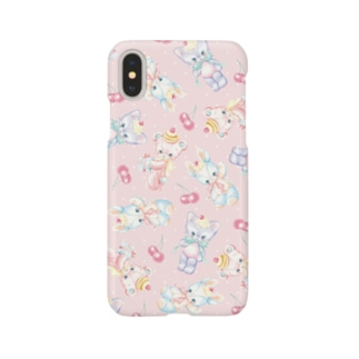 Stuffed Baby Animals(Pink) Smartphone cases
