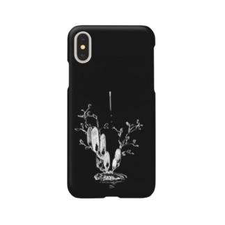冬虫夏草 黒 Smartphone cases
