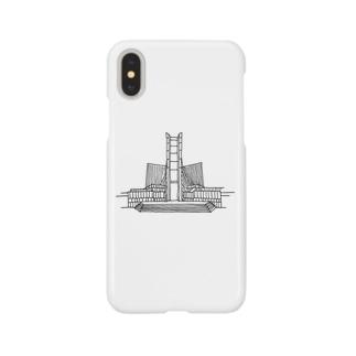 建築ペン画 東京カテドラル Smartphone cases