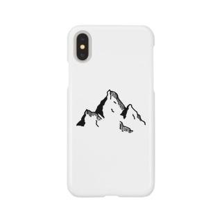 ペン画 山 Smartphone cases