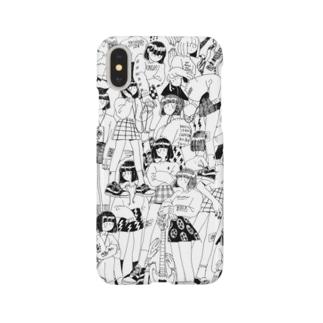 大集合ガールズ(black) Smartphone cases