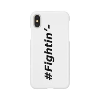 #Fightin'- スマホケース/縦デザイン Smartphone cases