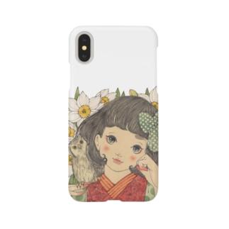 水仙にふくろう Smartphone cases