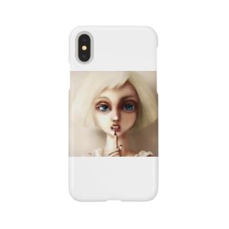 オリジナルイラスト 謎の女子 アルビノ Smartphone cases