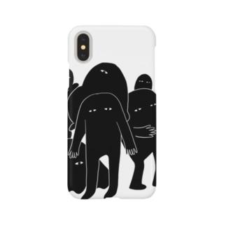 にゅーたんと(モノクロ) Smartphone cases