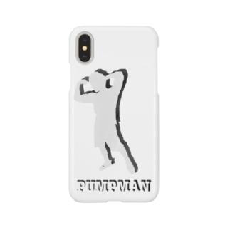 PUMPMAN(白マーク) Smartphone cases