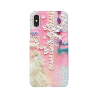 iPhoneケース*「キミを守るおまもりのひとつ。愛と虹」 Smartphone cases