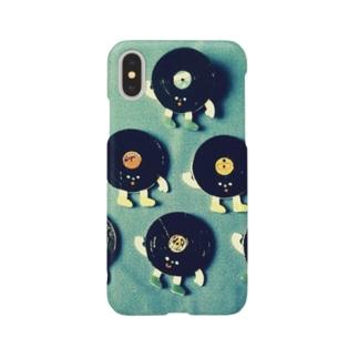 レコードくんたち Smartphone cases