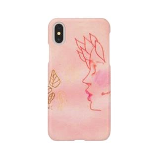 ペンシルドロー ピンクちゃん Smartphone cases