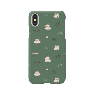 koubako-neko(forest-green) Smartphone cases