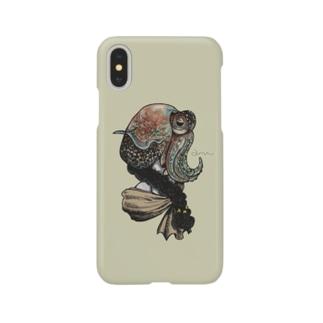 イカガールベージュ Smartphone cases