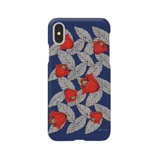 椿ブルー Smartphone cases