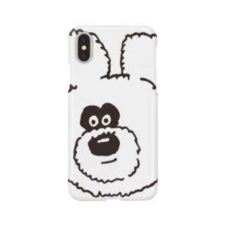 りのくまちゃんビッグフェイス Smartphone cases