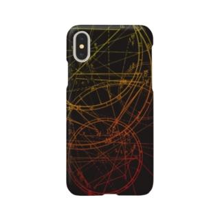 ホロスコープ柄 黒 Smartphone cases