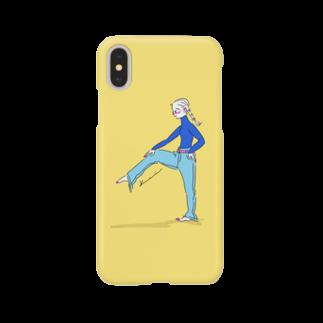 kameの片足あげ子 Smartphone cases