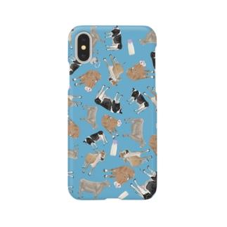 乳牛いっぱい🐄あお Smartphone cases