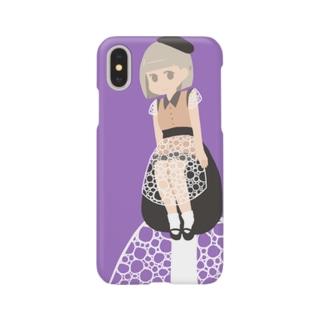 キヌガサタケちゃんiPhoneケース Smartphone cases