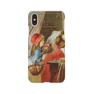 縁無し帽の赤ずきん Smartphone cases