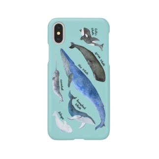 クジラまみれ Smartphone cases