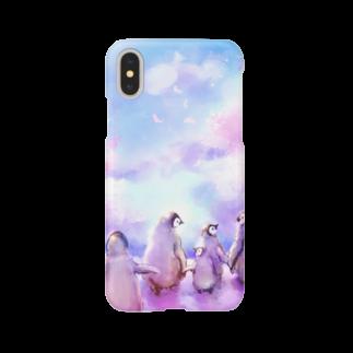 えっへんウサギのペンギンのさくら Smartphone cases