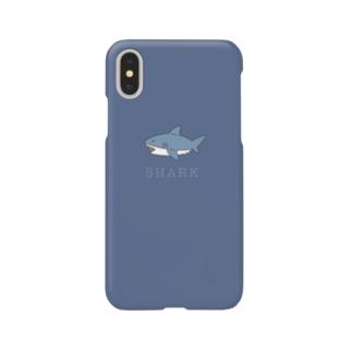 サメくん (blue) Smartphone cases