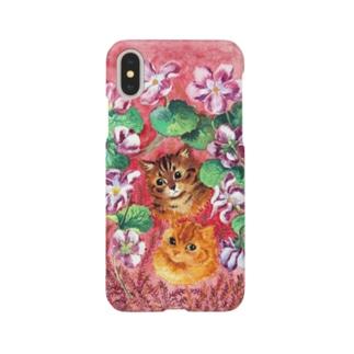 パンジーとタビー(トラネコ) Smartphone cases
