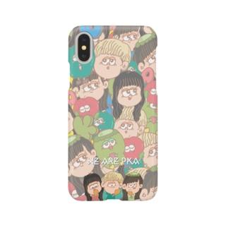 PKA Popp!ng Phone Case (総柄) Smartphone cases