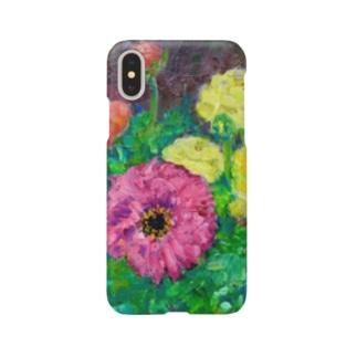 油彩-花-(横) Smartphone cases