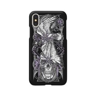 TAROT - THE STAR. Black Smartphone cases