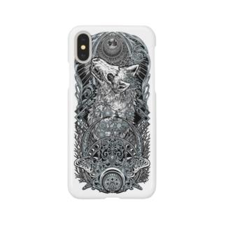 TAROT - THE MOON. White Smartphone cases