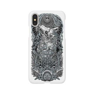 BLACKINK のTAROT - THE MOON. White Smartphone cases