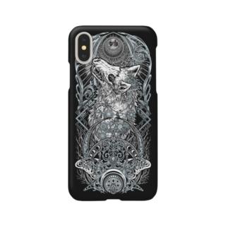 TAROT - THE MOON. Black Smartphone cases