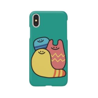 カラフルな謎の生き物3人 Smartphone cases
