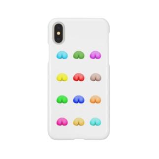 強制カラフルピーチ Smartphone cases