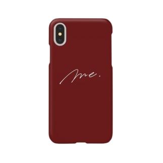 Me. (ワインレッド) Smartphone cases