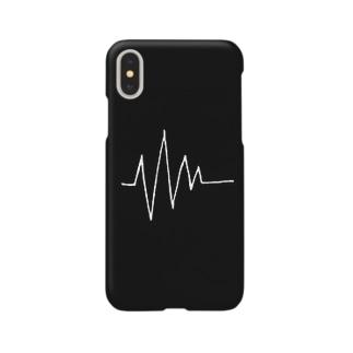 死ン電図(white) Smartphone cases